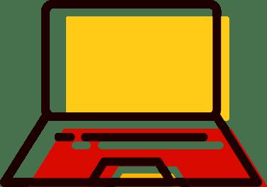 ordinateur portable ouvert - Choisir un pack de vidéos sans tournage sur enviedeprod